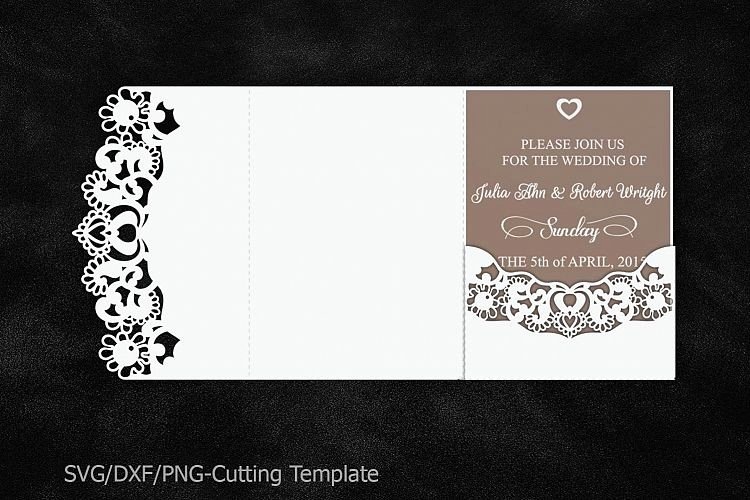 Lace Wedding Invitation Template Inspirational Lace Wedding Invitation Template Laser Cut Pocket Invitation