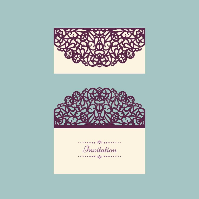 Lace Wedding Invitation Template Inspirational Lazercut Vector Wedding Invitation Template Wedding