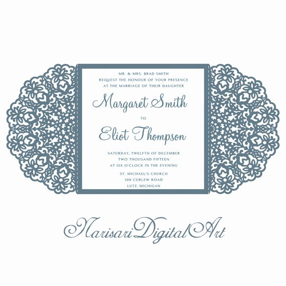 Lace Wedding Invitation Template Luxury Wedding Invitation Lace Card Template Quinceanera Invitation