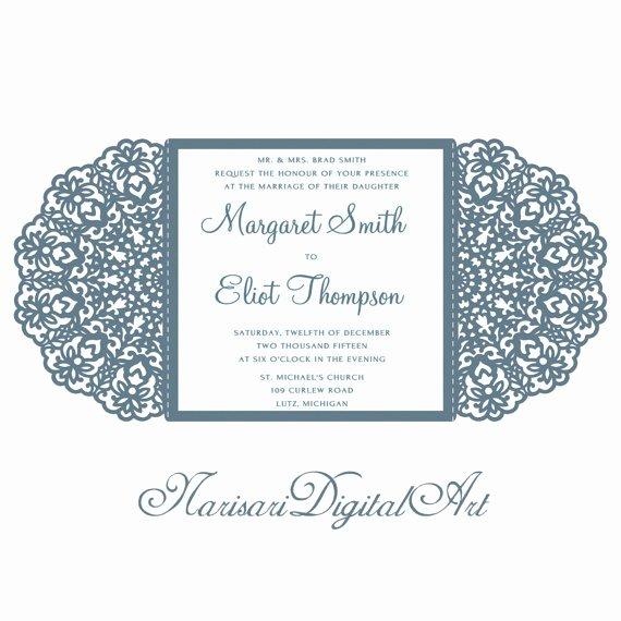 Lace Wedding Invitation Template Luxury Wedding Invitation Lace Card Template Quinceanera Invitation