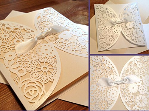 Lace Wedding Invitation Template New Diy Laser Cut Lace Vintage Flower Wedding Invitation