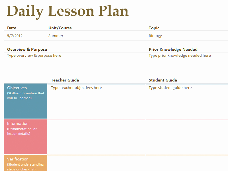Lesson Plan Template Common Core Awesome Printable Lesson Plan Template Free to