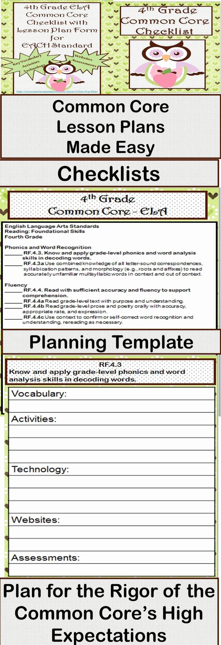 Lesson Plan Template Common Core Beautiful 53 Best Images About Lesson Plans On Pinterest