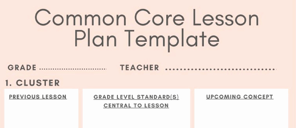 Lesson Plan Template Common Core Elegant 5 Downloadable Math Lesson Plan Templates for Small Group