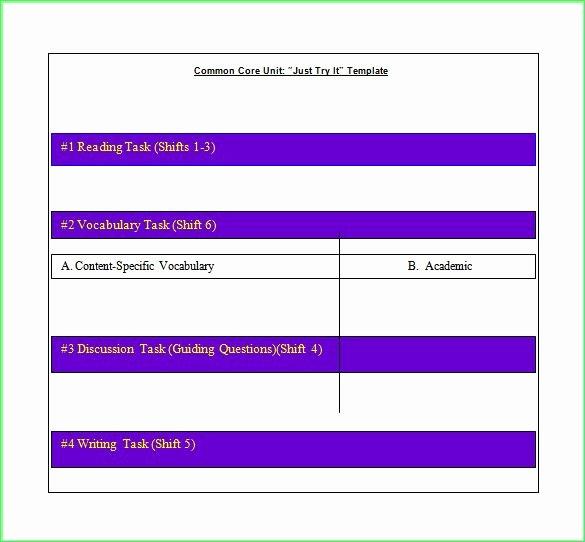 Lesson Plan Template Common Core Fresh Free Mon Core Lesson Plan Template