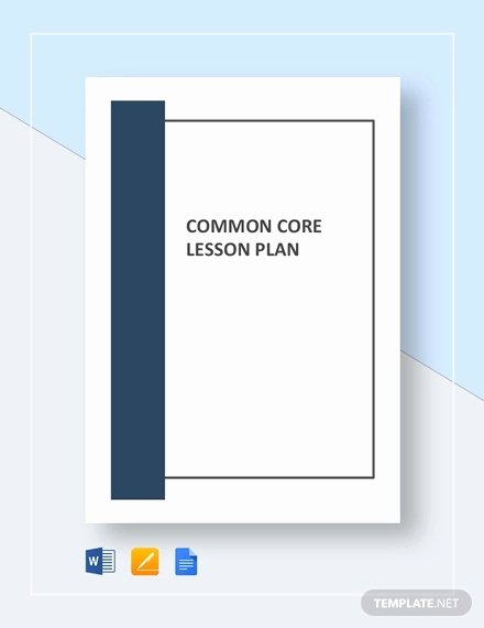 Lesson Plan Template Common Core Lovely Mon Core Lesson Plan Template 8 Free Word Excel