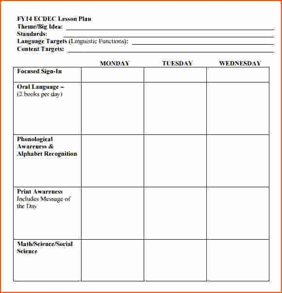 Lesson Plan Template Free Printable Beautiful 8 Free Printable Lesson Plan Template Bookletemplate