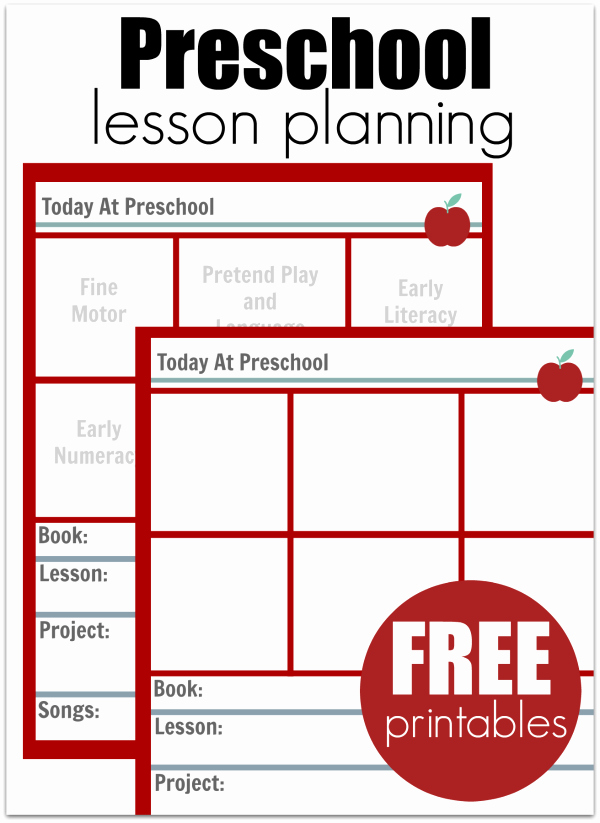 Lesson Plan Template Free Printable Beautiful Preschool Lesson Planning Template Free Printables