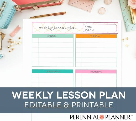 Lesson Plan Template Free Printable Lovely Teacher S Lesson Plan Printable Editable Homeschool