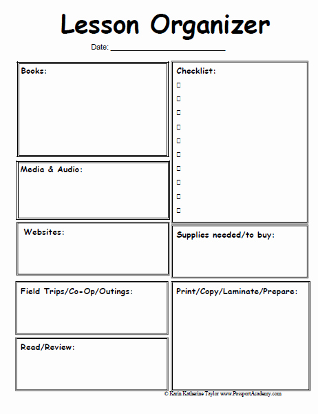 Lesson Plan Template Free Printable Luxury Homeschool Lesson Planner Pages