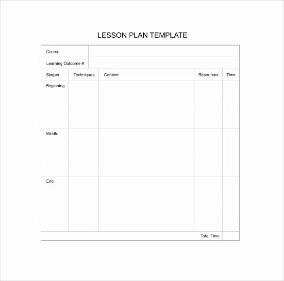 Lesson Plan Template Free Printable Unique 11 Sample Blank Lesson Plans