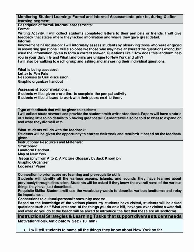 Lesson Plan Template Nyc Best Of Edtpa Lesson Plan Template Word Document Flowersheet
