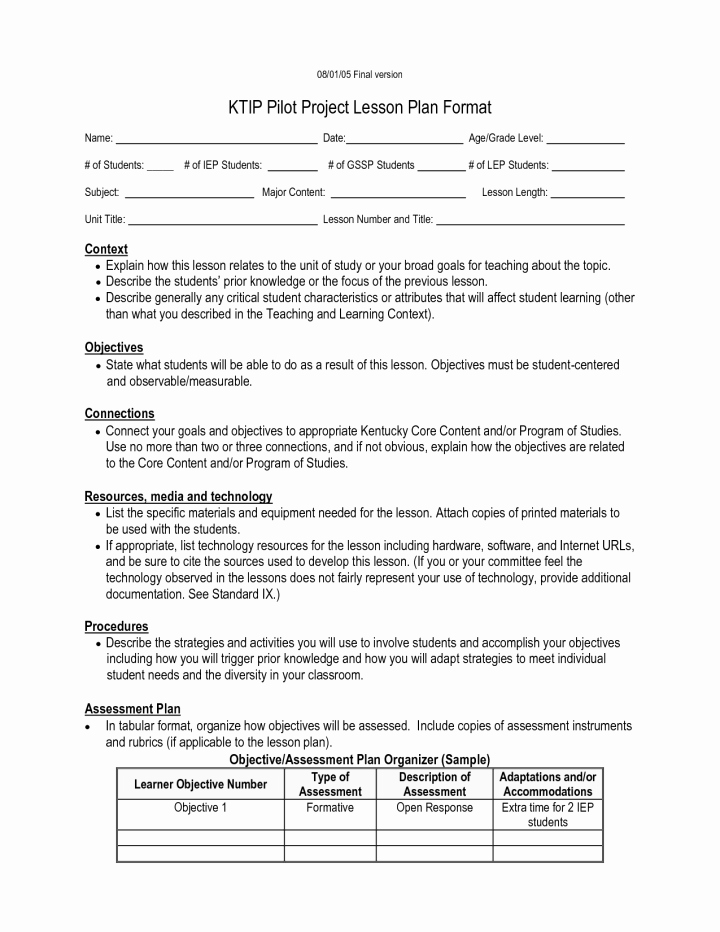 Lesson Plan Template Nyc Lovely Kipp Character Report Card Pdf