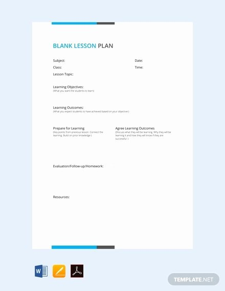 Lesson Plan Template Word Doc Beautiful 59 Lesson Plan Templates Pdf Doc Excel