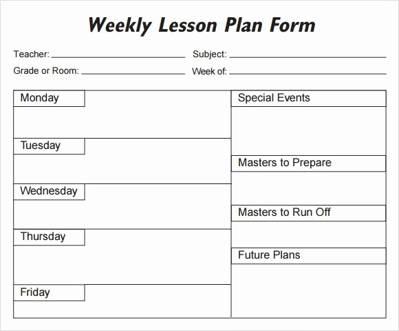Lesson Plan Template Word Doc Elegant Weekly Lesson Plan 8 Free Download for Word Excel Pdf