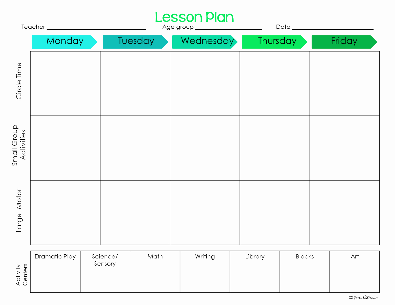 Lesson Plans Template Free Fresh Preschool Ponderings Make Your Lesson Plans Work for You