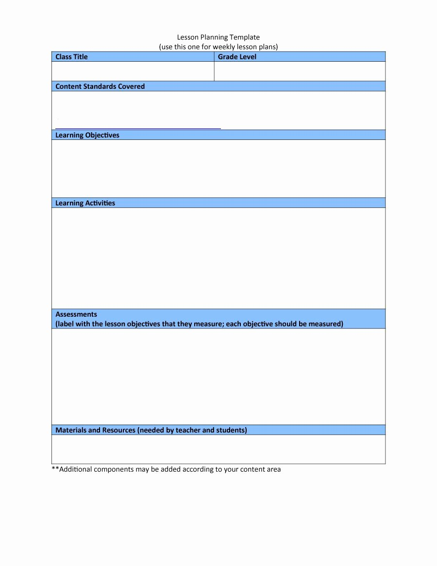 Lesson Plans Template Free Luxury 44 Free Lesson Plan Templates [ Mon Core Preschool