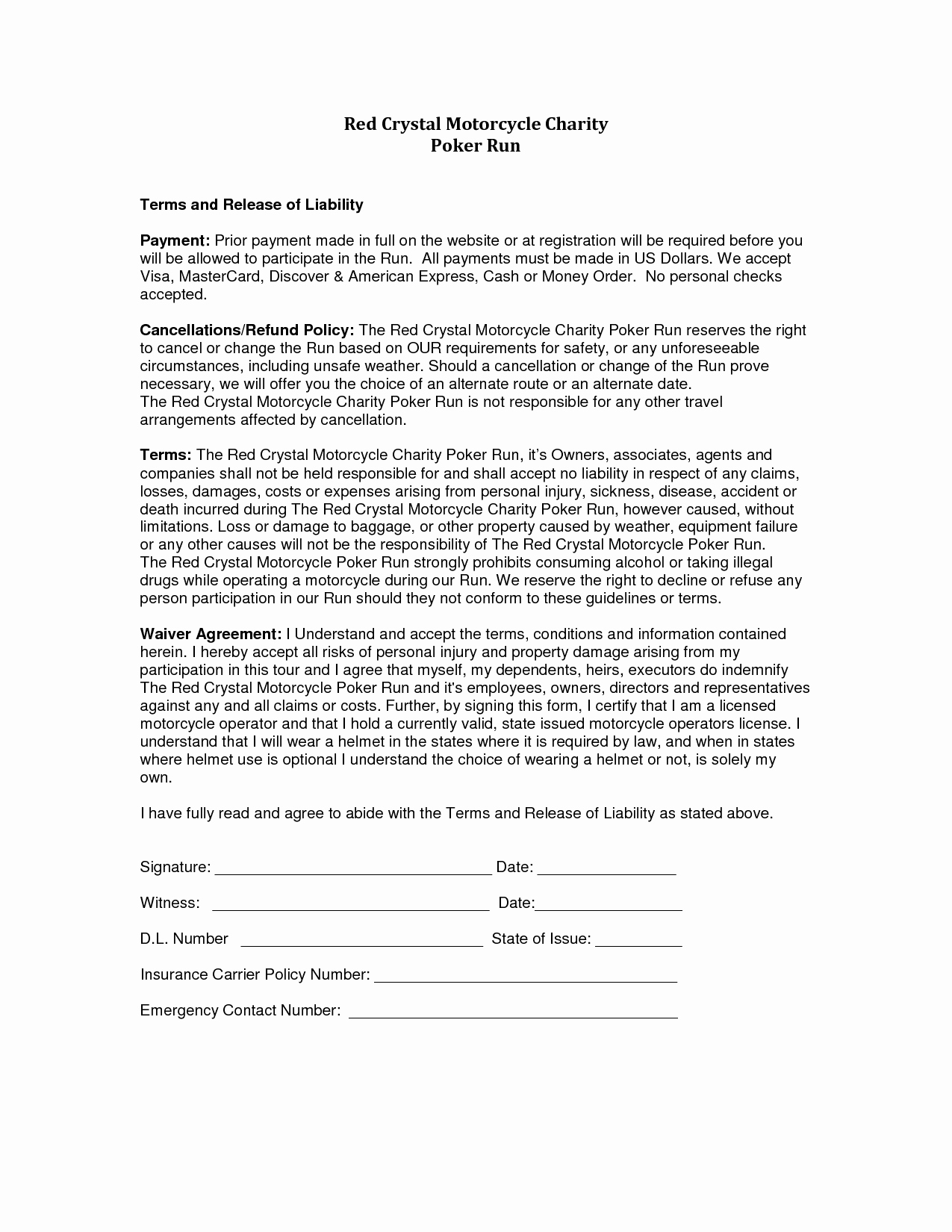 Liability form Template Free Awesome Release Liability Sample Free Printable Documents