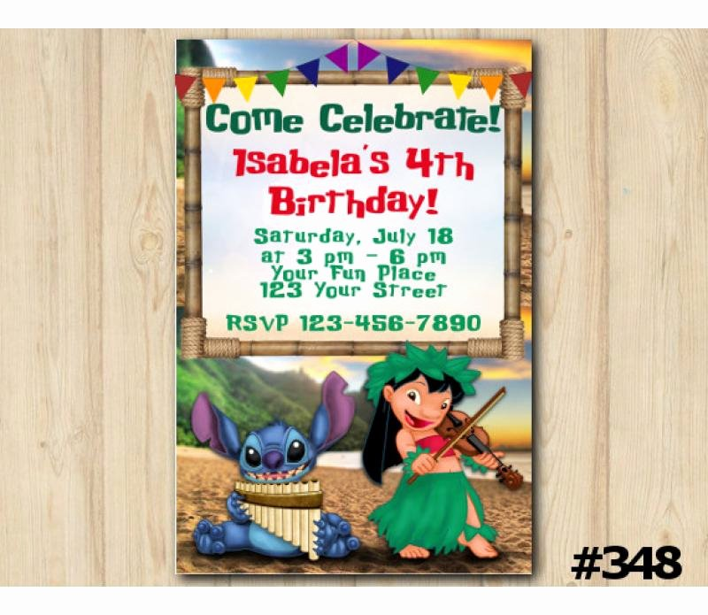 Lilo and Stitch Invitation Template Awesome Lilo and Stitch Birthday Invitation Lilo and Stitch