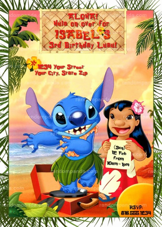 Lilo and Stitch Invitation Template Awesome Printable Lilo and Stitch Invitation Lilo and Stitch Party