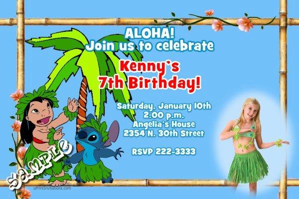 Lilo and Stitch Invitation Template Beautiful Luau Lilo and Stitch Birthday Invitations