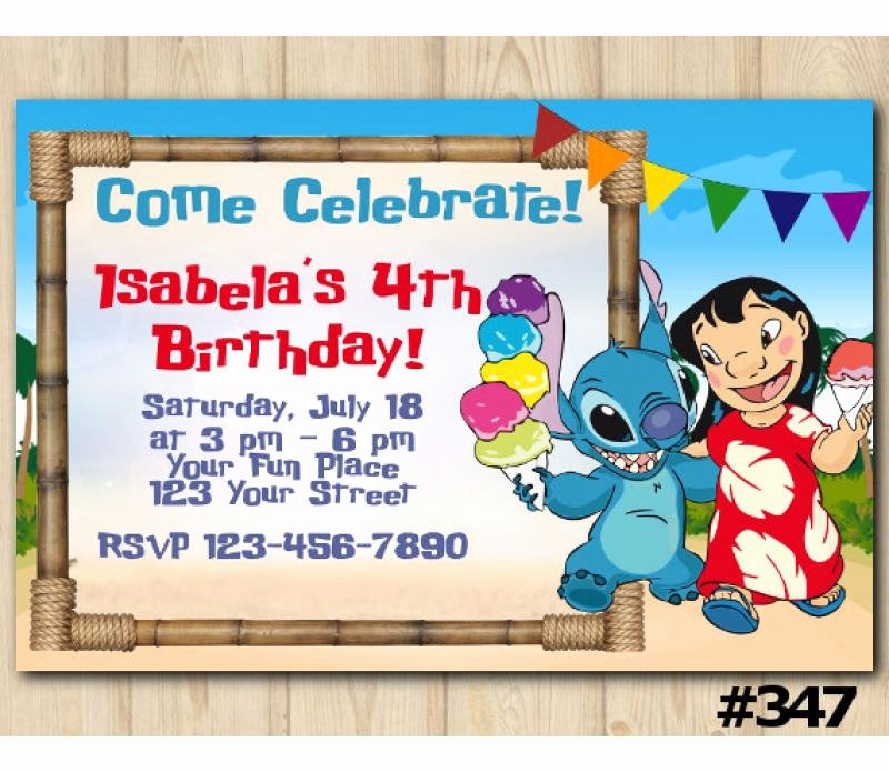 Lilo and Stitch Invitation Template Best Of Lilo and Stitch Birthday Invitation Lilo and Stitch