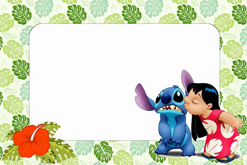 Lilo and Stitch Invitation Template Best Of Lilo and Stitch Free Printables and Oh My