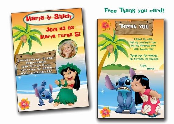 Lilo and Stitch Invitation Template Elegant Lilo and Stitch Invitationlilo and Stitch Birthday