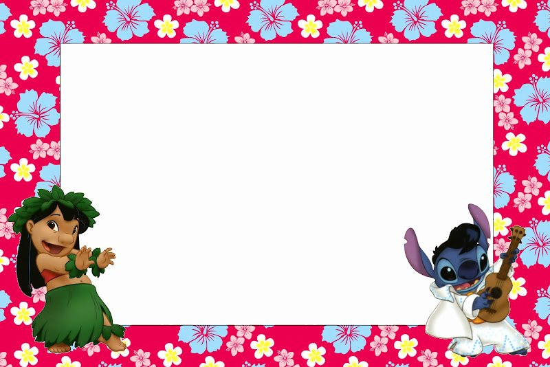 Lilo and Stitch Invitation Template Inspirational Lilo and Stitch Free Printables and