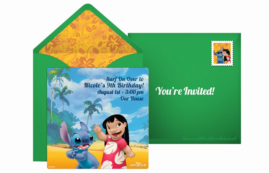 Lilo and Stitch Invitation Template Inspirational Plan A Groovy Lilo and Stitch Luau