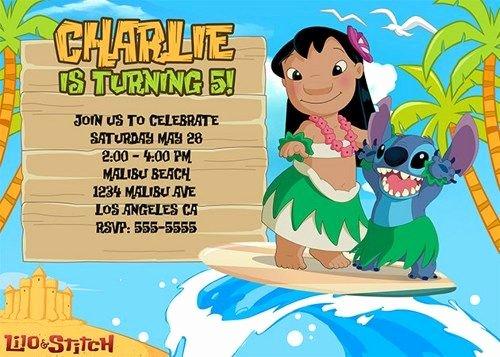 Lilo and Stitch Invitation Template Luxury Lilo & Stitch Birthday Invitations Birthday Party Card