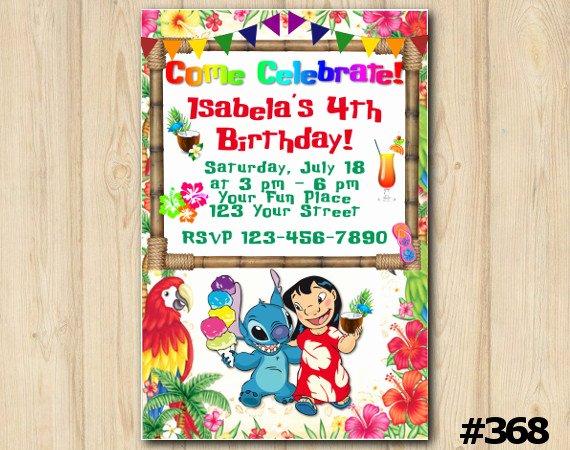 Lilo and Stitch Invitation Template Luxury Lilo and Stitch Luau Invitation Lilo and Stitch Birthday