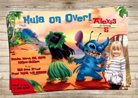 Lilo and Stitch Invitation Template New 50 Best Lilo and Stitch Party Images On Pinterest