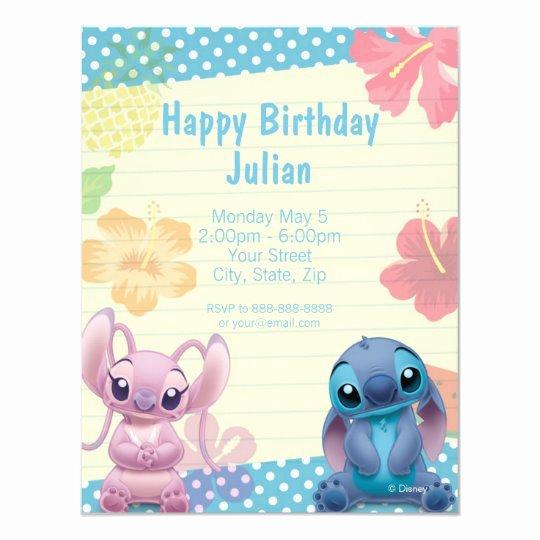 Lilo and Stitch Invitation Template New Lilo & Stitch Birthday Invitation