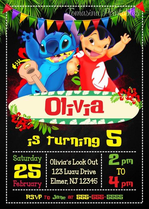 Lilo and Stitch Invitation Template New Lilo and Stitch Birthday Invitation Printable Lilo and