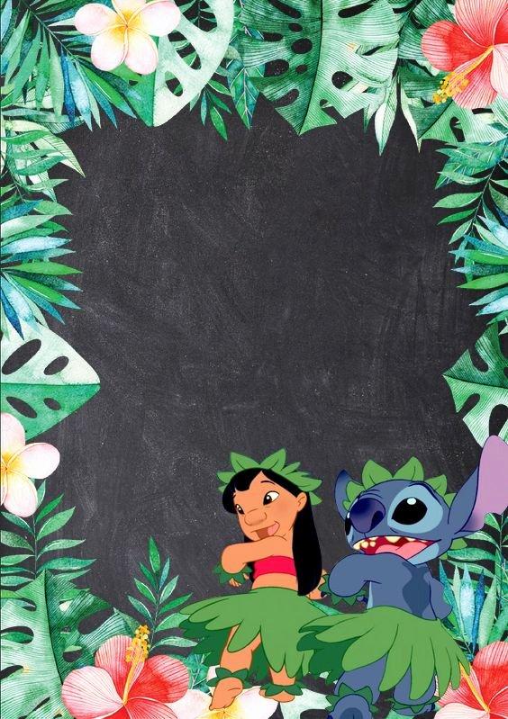 Lilo and Stitch Invitation Template Unique Blank Lilo & Stitch Invitation Birthday In 2019
