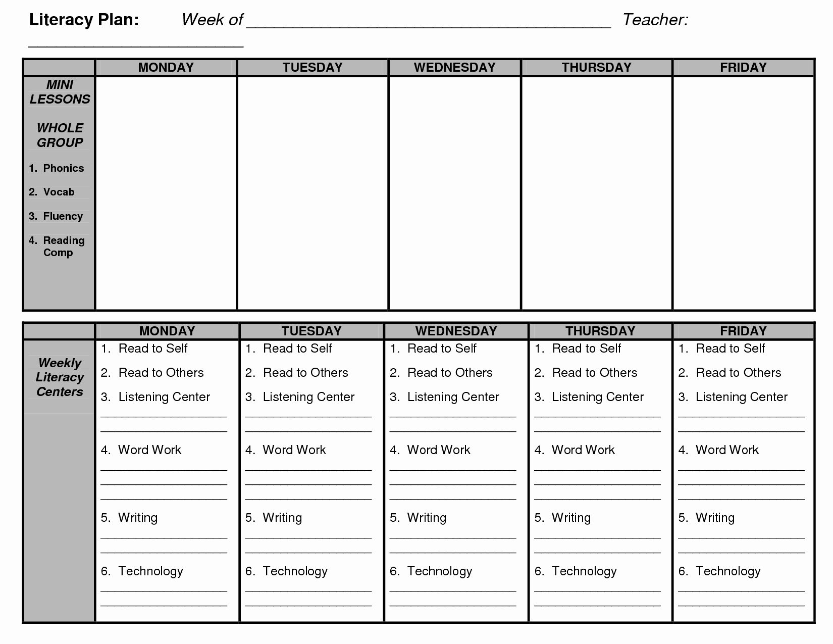 Literacy Lesson Plan Template Fresh D Reading Lesson Plan Template