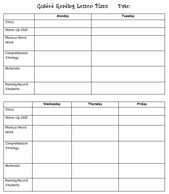 Literacy Lesson Plan Template Unique Guided Reading organizing Literacy without Worksheets