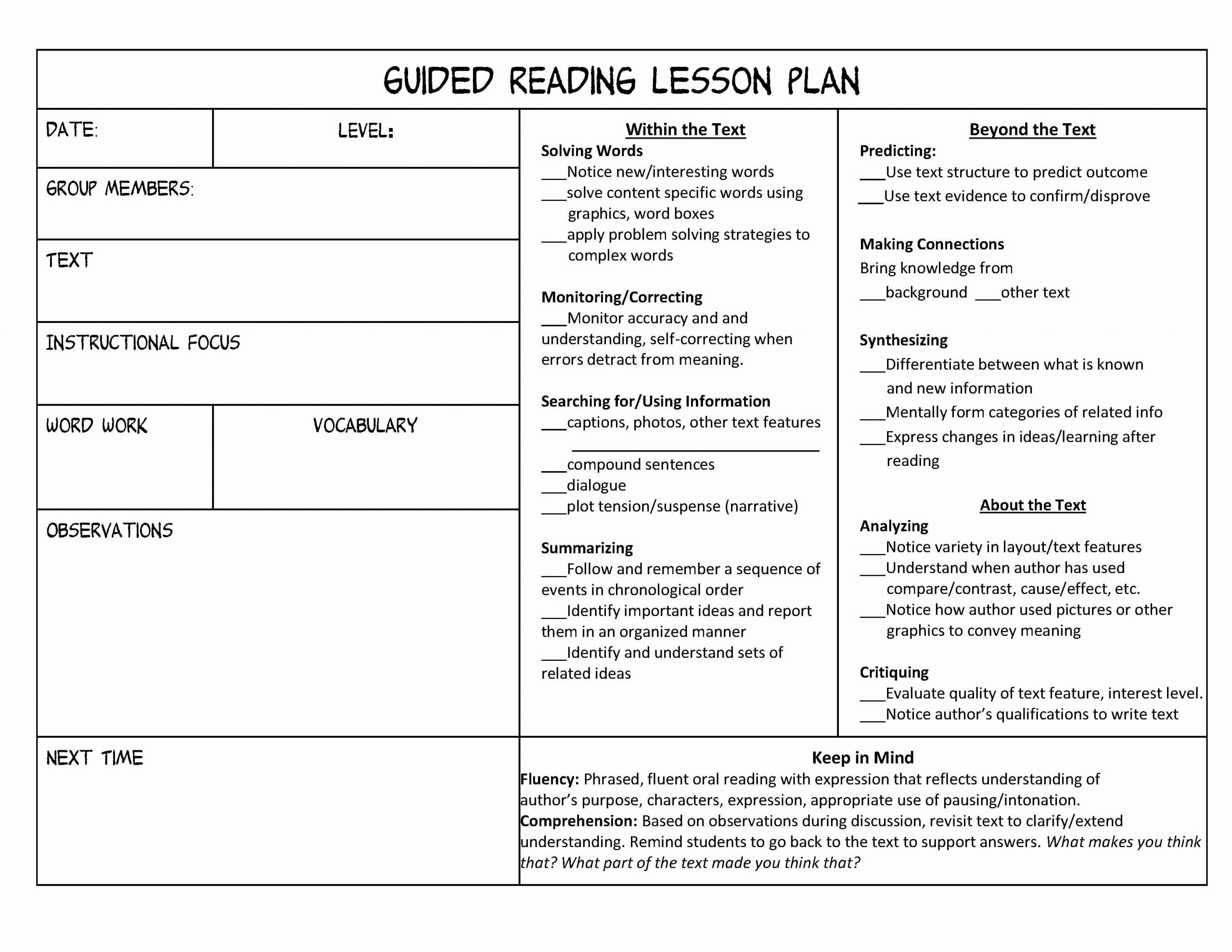Literacy Lesson Plan Template Unique Tips for Getting Your Guided Reading Groups Started