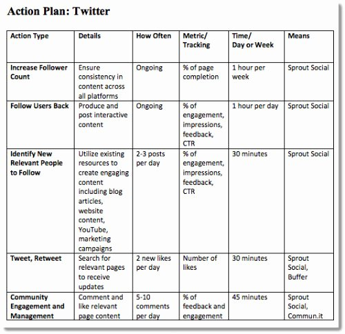 Marketing Action Plan Template Excel Best Of 4 Step Plan to A Successful Small Business Blog