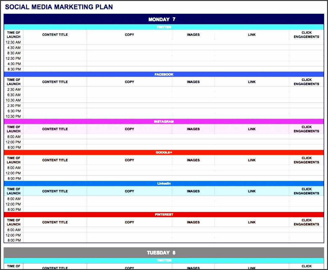 Marketing Action Plan Template Excel Elegant 6 How to Create Weekly Marketing Report In Excel