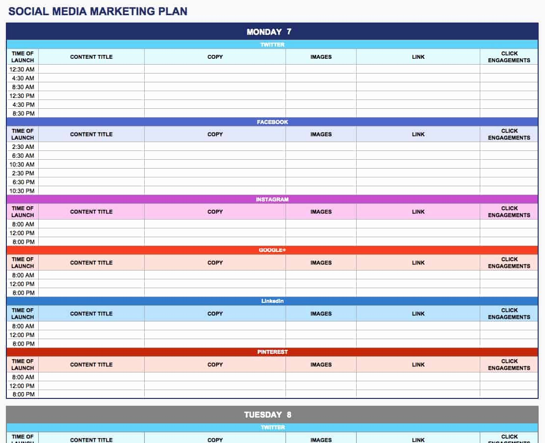 Marketing Action Plan Template Excel Elegant Free Marketing Plan Templates for Excel Smartsheet