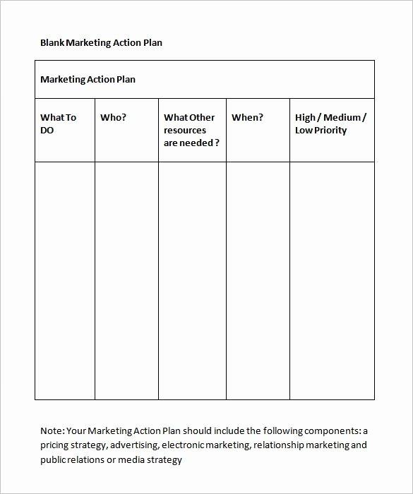 Marketing Action Plan Template Excel Elegant Marketing Action Plan Template 12 Free Word Excel Pdf