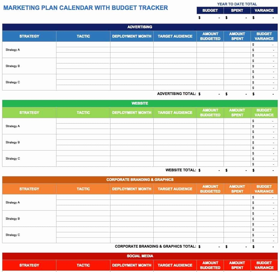Marketing Action Plan Template Excel Inspirational 15 Free Marketing Calendar Templates