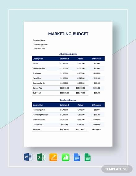 Marketing Plan Budget Template Awesome 17 Marketing Bud Samples In Google Docs