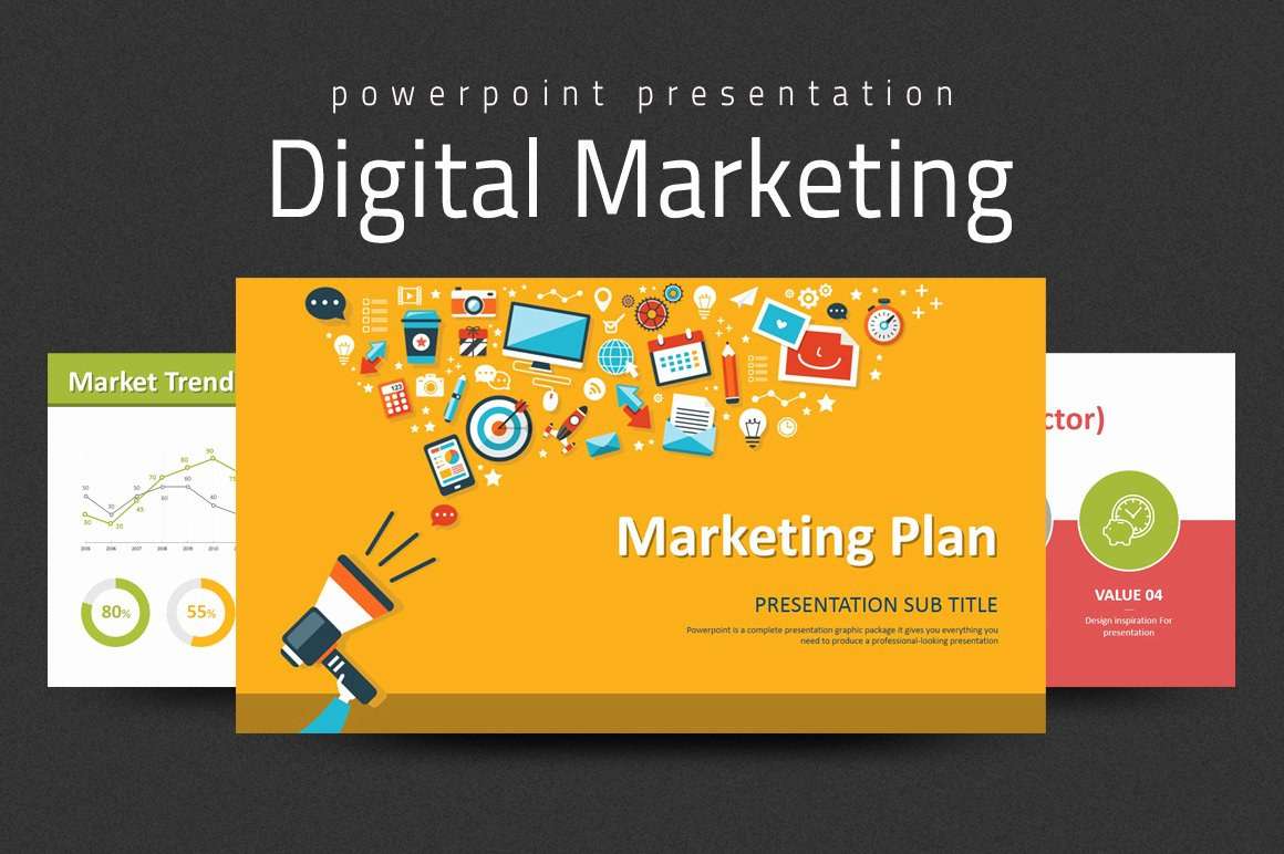 Marketing Plan Powerpoint Template New Digital Marketing Strategy Ppt by Goodp