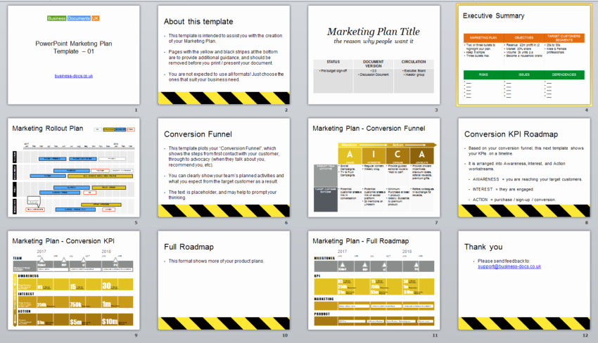 Marketing Plan Powerpoint Template Unique Powerpoint Marketing Plan Template & Conversion Funnel