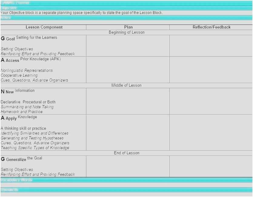 Marzano Lesson Plan Template Doc New Free Lesson Plan Template Doc New Lesson Plan Template