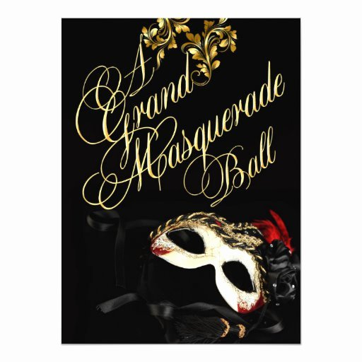 Masquerade Ball Invitations Template Awesome Masquerade Ball Invitation