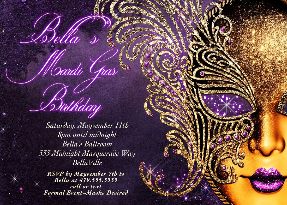 Masquerade Ball Invitations Template Elegant Masquerade Invitation Mardi Gras Invitation Masquerade